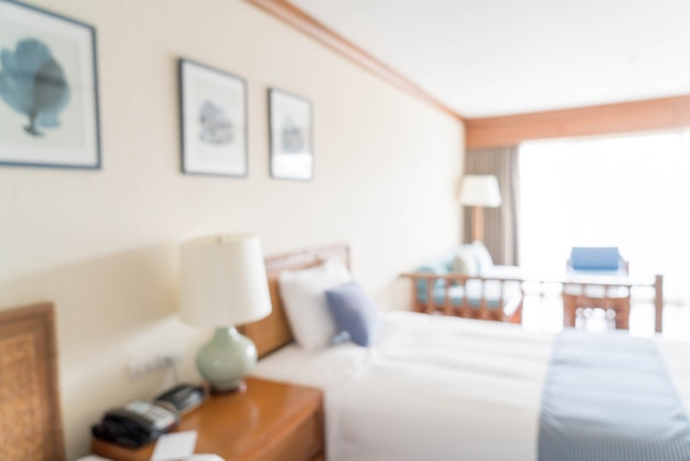 Abstract blur bedroom interior