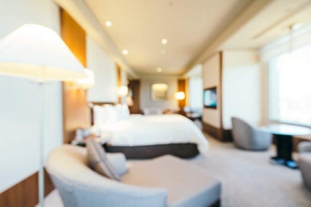 Abstract blur bedroom and living area interior, blurred photo background