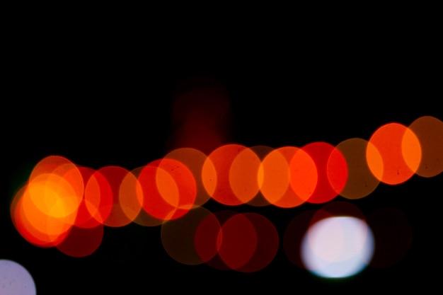 抽象的なぼけボケ背景、常夜灯、幸福の祭り。