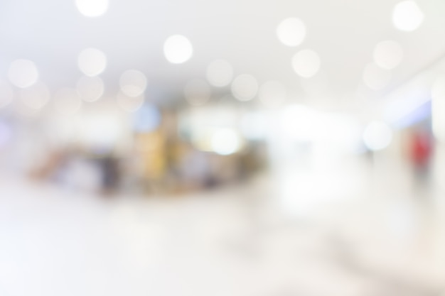 Abstract blur and bokeh shopping mall and retails store