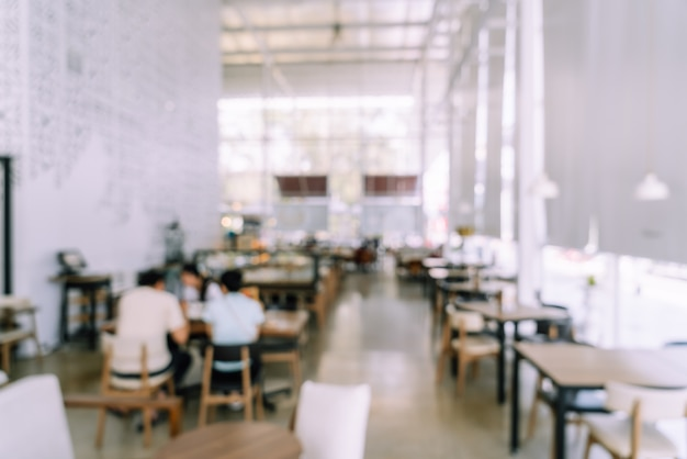 Abstract blur cafe restaurant for background