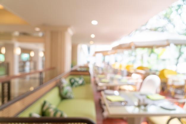 抽象的なぼかしカフェレストラン