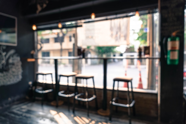 Abstract blur in cafe