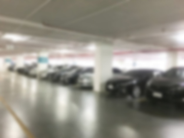 Abstract blur car parking
