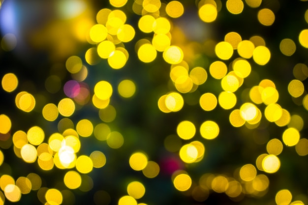 Abstract blur christmas with bokeh lights background