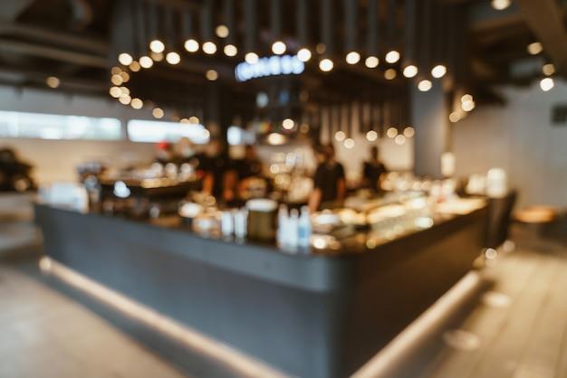 배경에 대 한 추상 흐림 커피 숍 카페 레스토랑