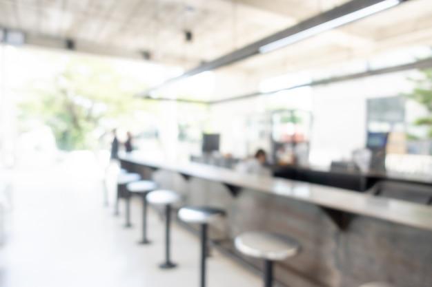 추상 블러 커피 숍 및 카페 레스토랑