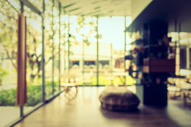 抽象的なぼかしコーヒーショップとレストラン
