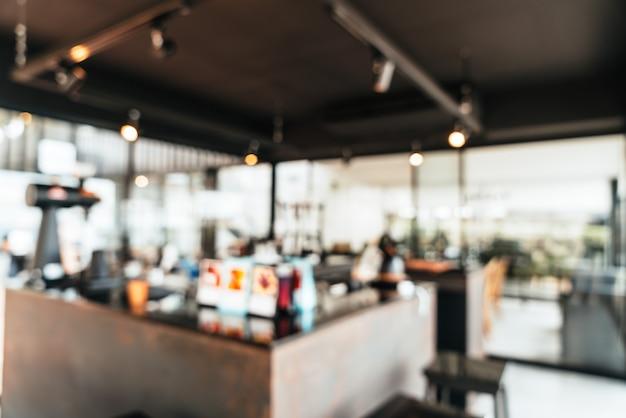 Абстрактное размытие кафе кафе и ресторан для фона