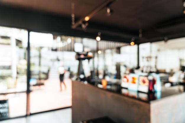 추상 흐림 커피 숍 카페 및 레스토랑