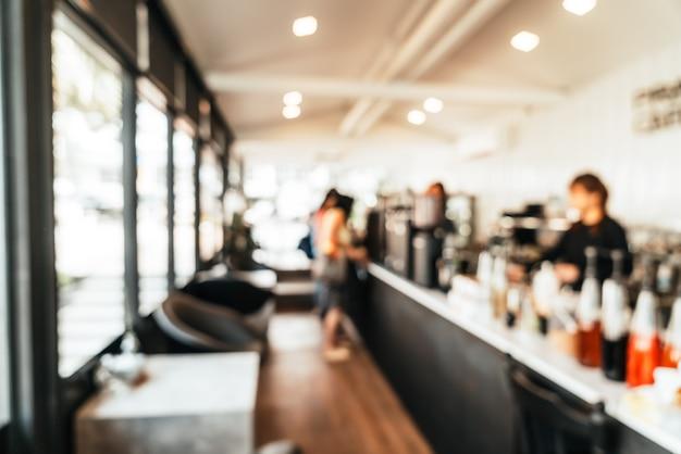 Абстрактное размытие кафе кафе и ресторан