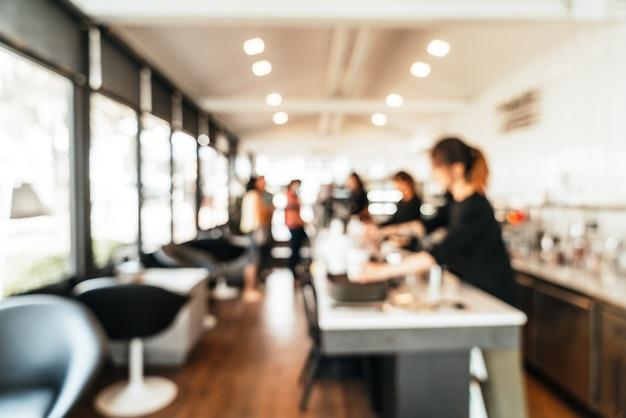 抽象的なぼかしコーヒーショップカフェとレストラン