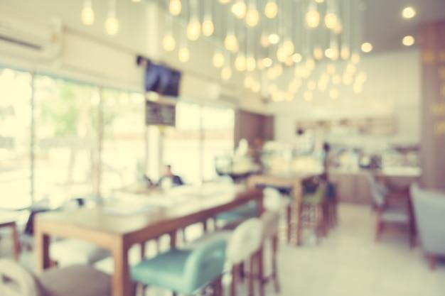 抽象的なぼかしコーヒーショップカフェ