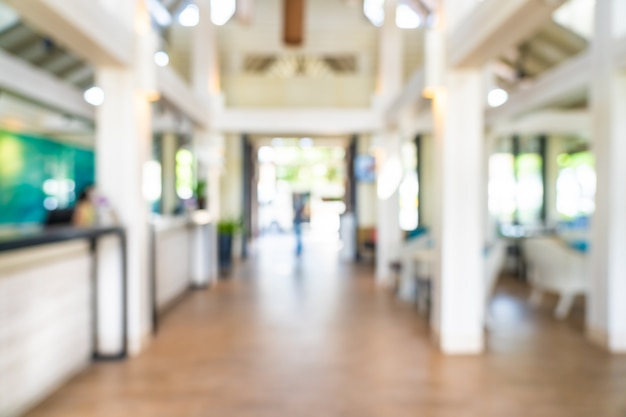 Abstract blur and defocus hotel lobby interior