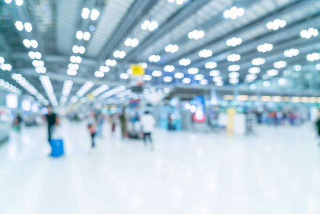 Abstract blur and defocused airport terminal interior