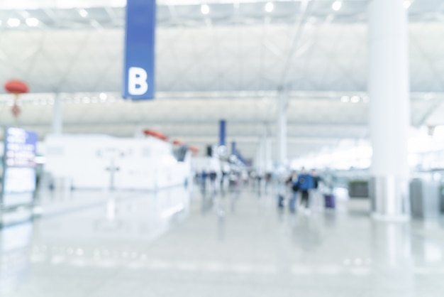Abstract blur and defocused airport