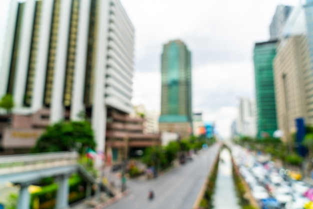 Abstract blur and defocused bangkok city in thailand for background
