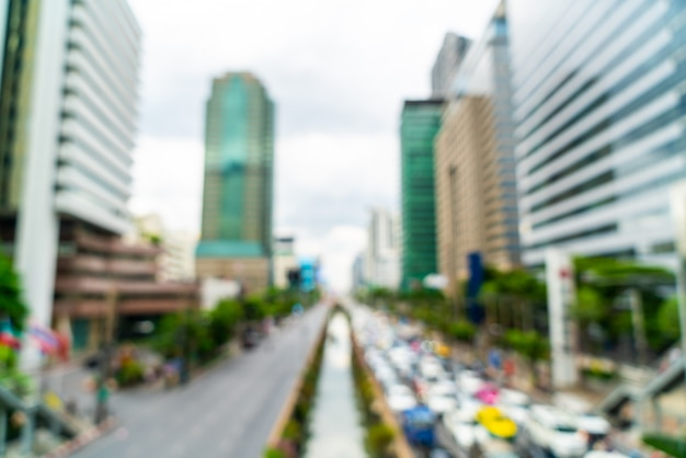Abstract blur and defocused bangkok city in thailand