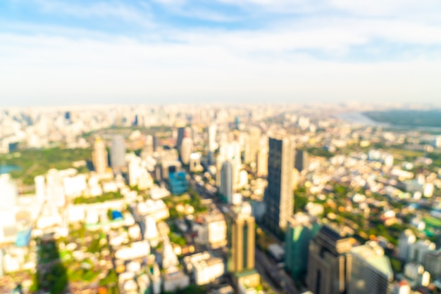 Abstract blur and defocused bangkok cityscape in thailand