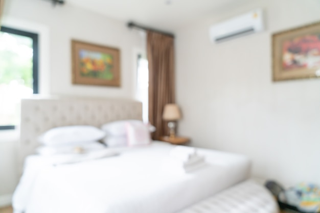 Abstract blur and defocused bedroom for