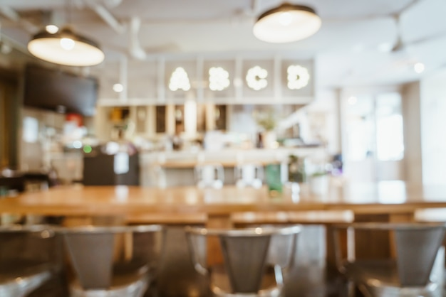 Abstract blur and defocused in cafe restaurant for background