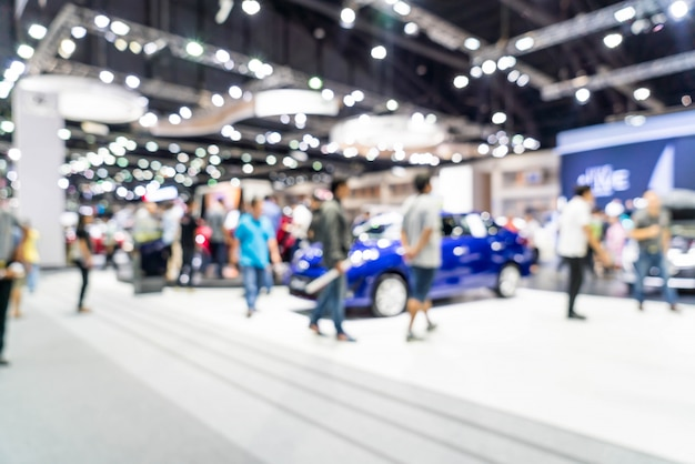 Abstract blur and defocused car and motor exhibition show event background