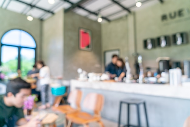 Abstract blur and defocused coffee shop for background