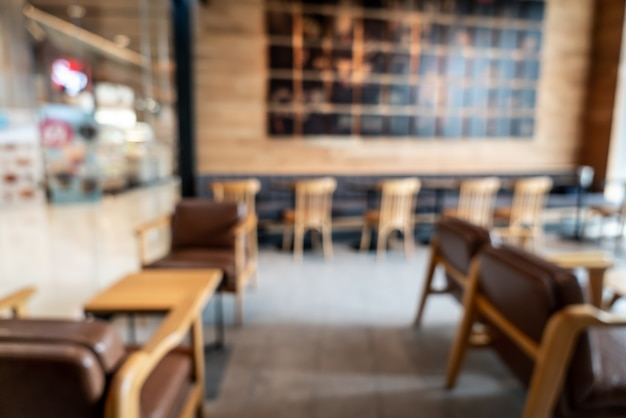 Abstract blur and defocused in coffee shop cafe and restaurant