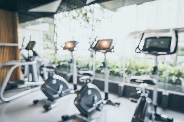 Abstract blur and defocused fitness gym for background