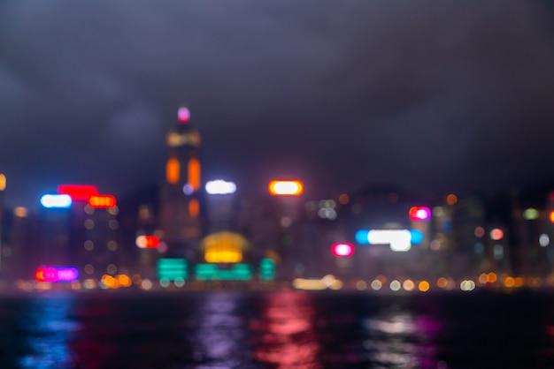 Abstract blur and defocused hong kong city