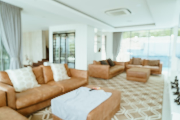 Abstract blur and defocused living room interior