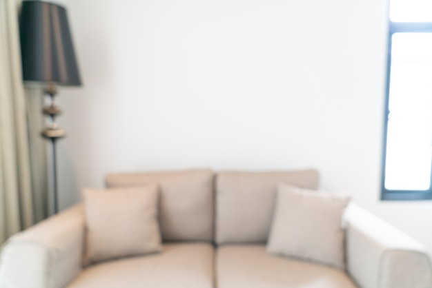 Abstract blur and defocused living room