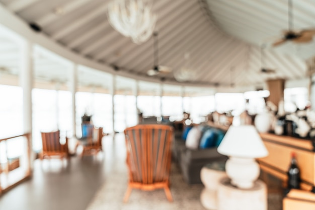 Abstract blur and defocused lobby in hotel interior for background