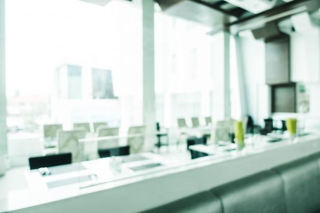 Abstract blur and defocused luxury decoration in restaurant interior