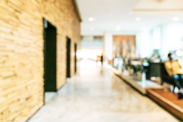 Abstract blur and defocused luxury hotel lobby area for background