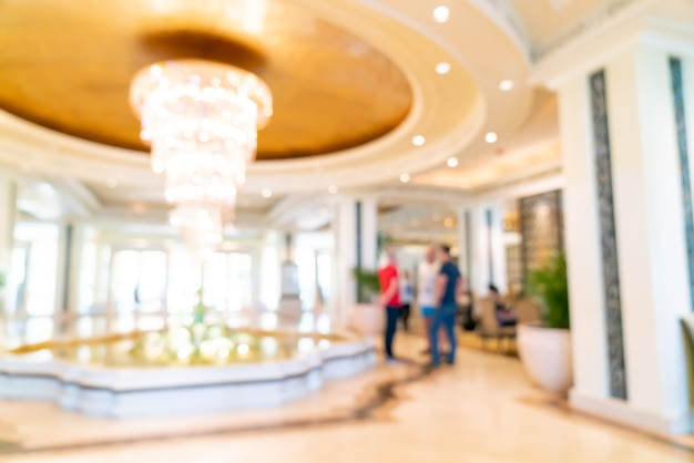 Abstract blur and defocused luxury hotel lobby for