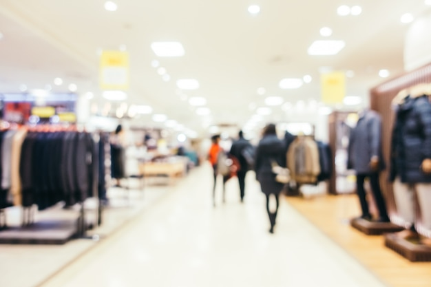 Abstract blur and defocused luxury shopping mall of department store, blurred photo background