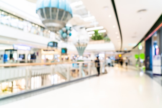 Abstract blur and defocused luxury shopping mall and retail store