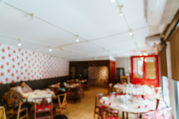 Abstract blur and defocused restaurant for background - vintage effect filter