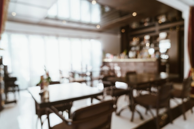 Abstract blur and defocused restaurant for background