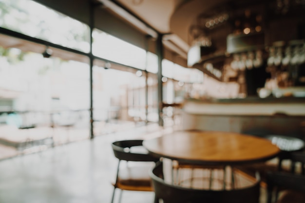 Abstract blur and defocused in restaurant and cafe for background