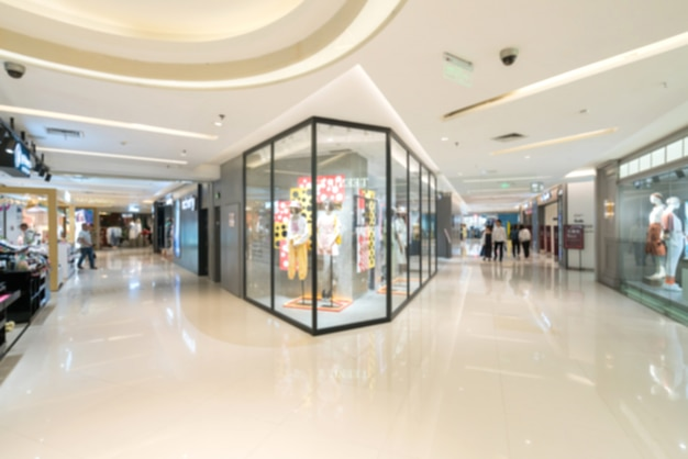 Abstract blur and defocused shopping mall in department store interior