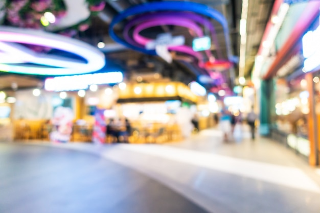 Abstract blur and defocused shopping mall and retail interior of department store, blurred photo background