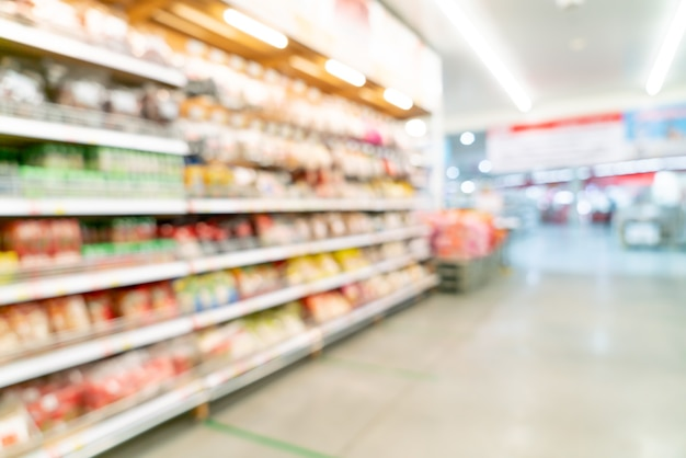 Abstract blur and defocused supermarket for background