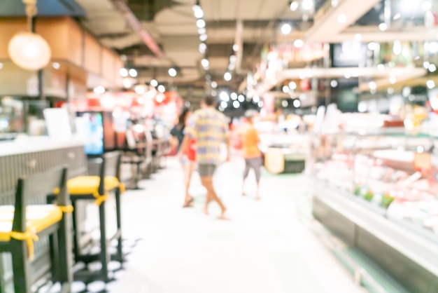 Abstract blur and defocused supermarket for