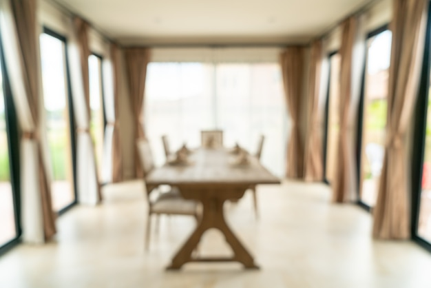 Abstract blur dining room