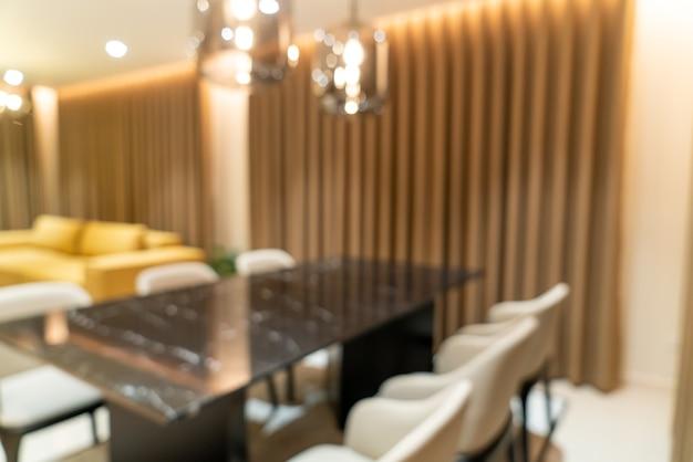 Абстрактный размытие обеденный стол дома для фона