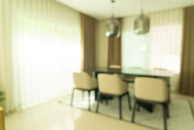 Abstract blur dining table at home for background