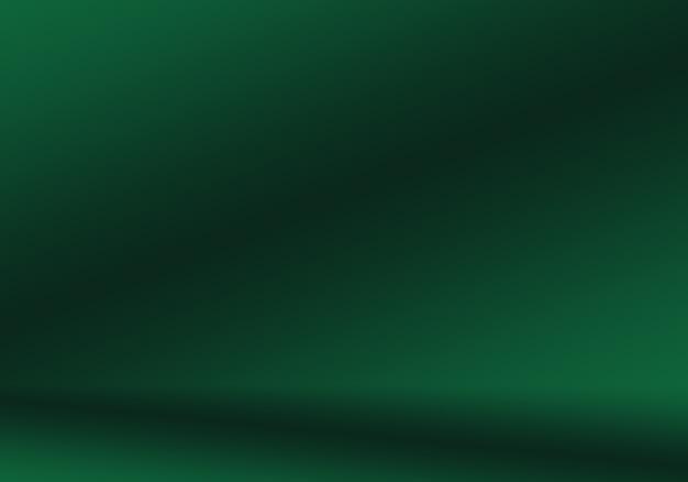 Sfocatura astratta vuota gradiente verde studio ben utilizzato come sfondo, modello di sito web, cornice, relazione aziendale.
