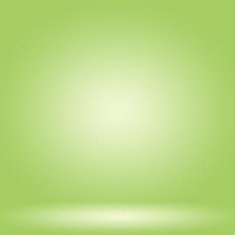 抽象的なぼかし空の緑のグラデーションスタジオ